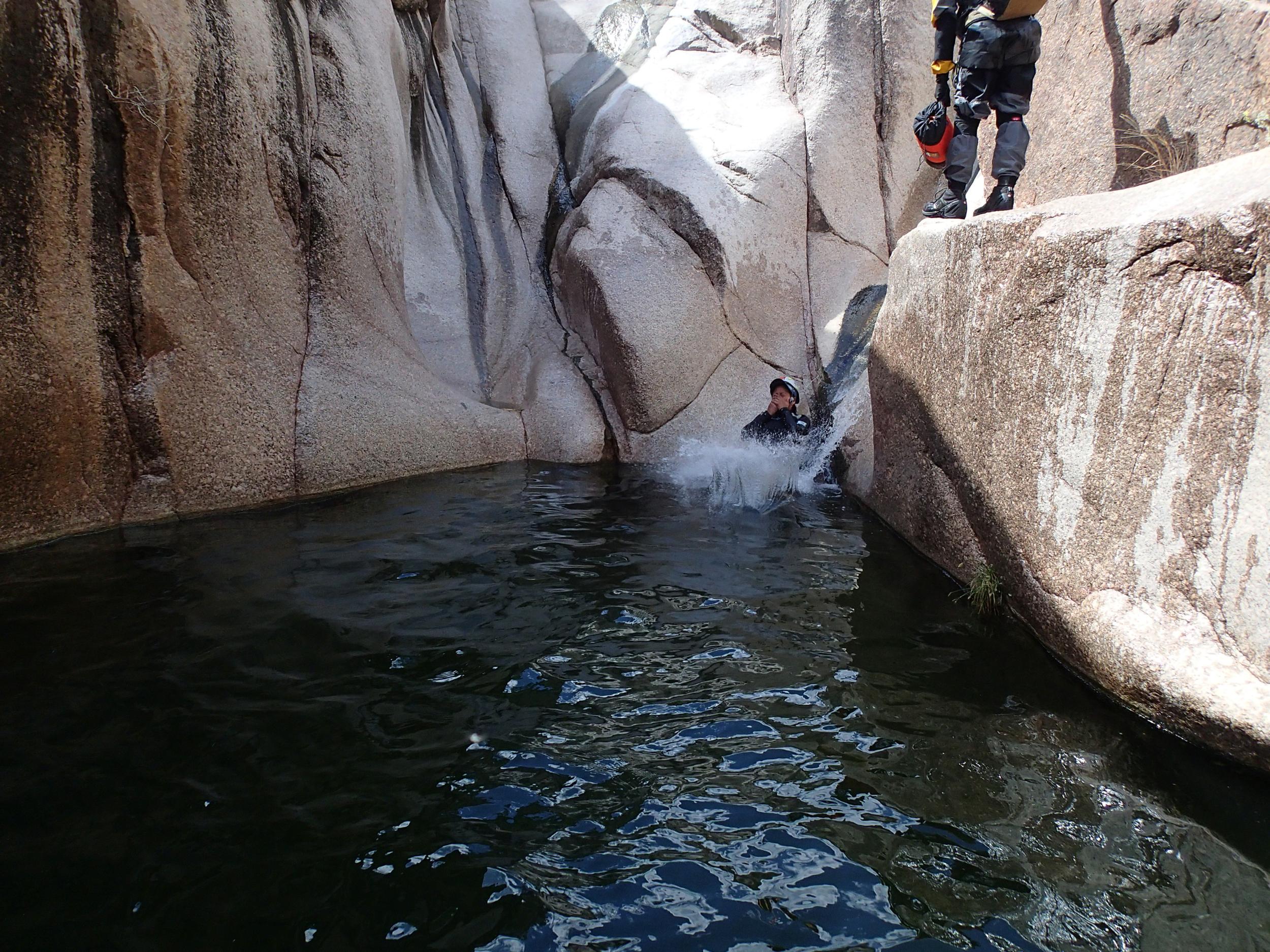 Waterslides Canyon, AZ - On Rope Canyoneering