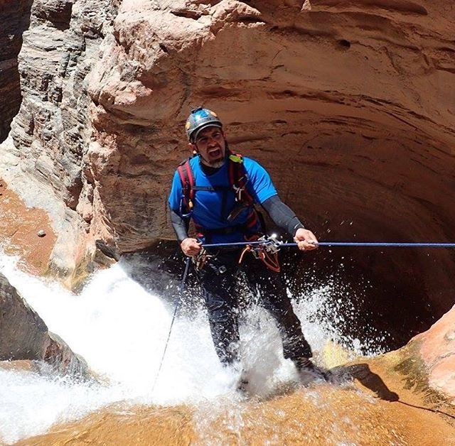 #cibecue #canyon #AZ #arizona apparently I had something on my mind prior to #commiting to the #waterfall #rappel