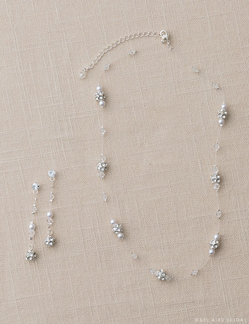 J2035   Rhinestone and wire circle set
