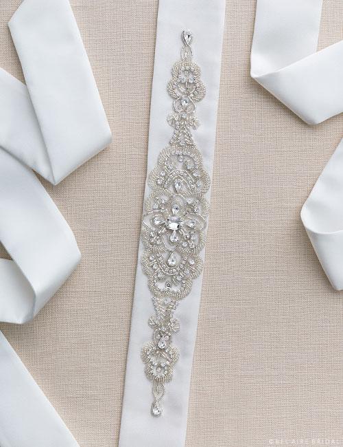 BT010   Elegant beaded design belt