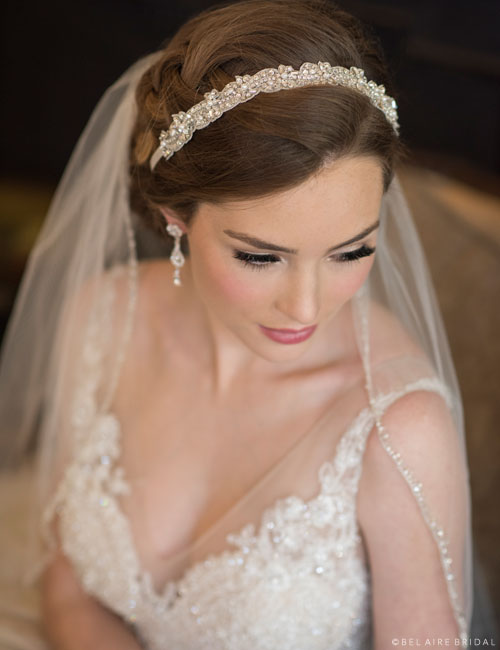 6678   Beautifully beaded tie headband