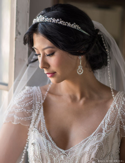 6698   Dainty rhinestone and crystal tiara