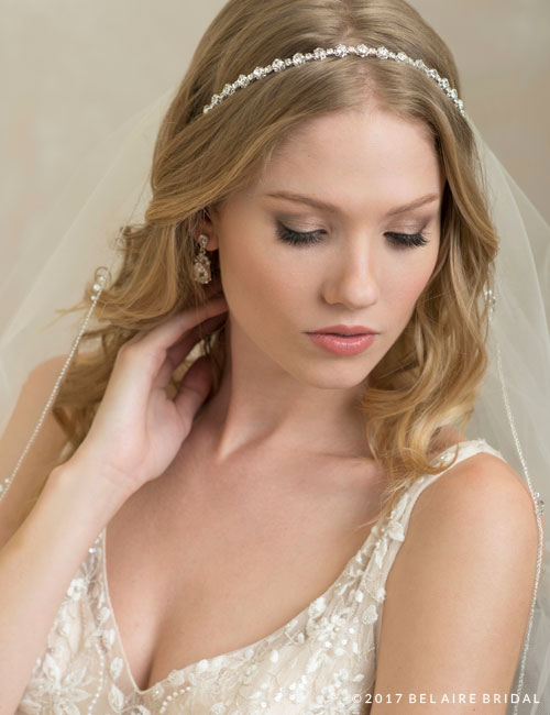 6794   Narrow, sparkling rhinestone headpiece