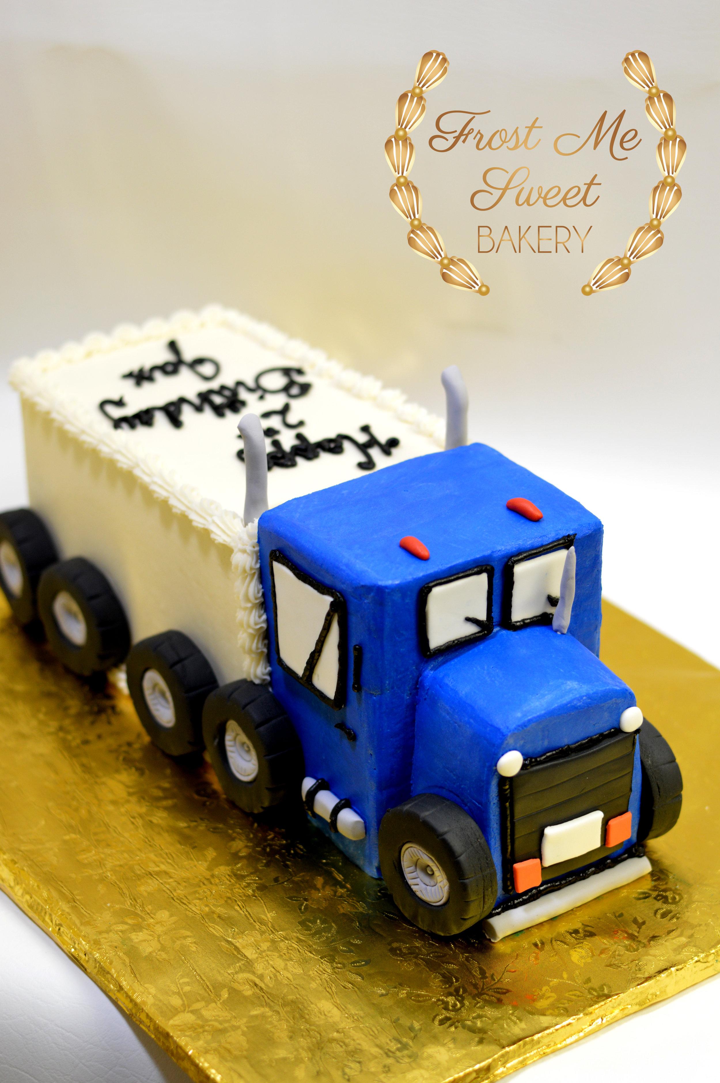 Buttercream Semi Truck Cake