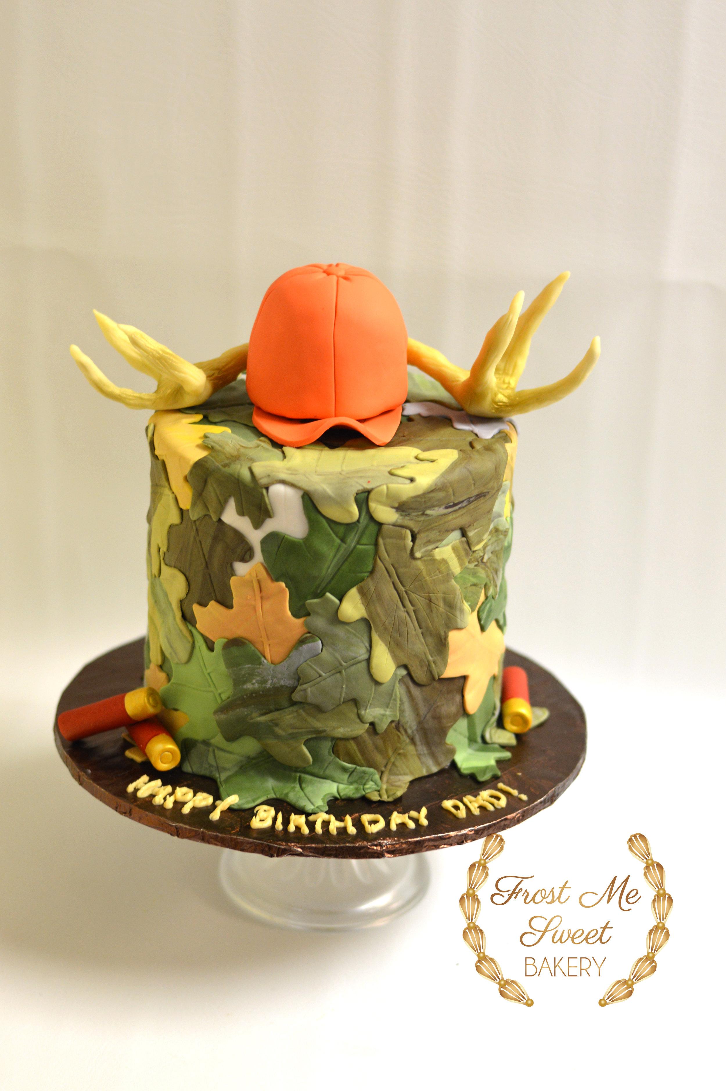 Deer Hunter Camo Cake