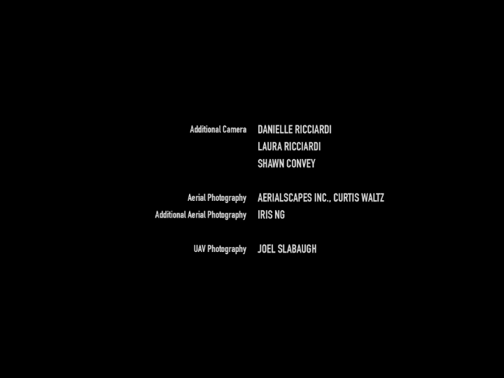 The first screen of credits that follow the end of episode 1.