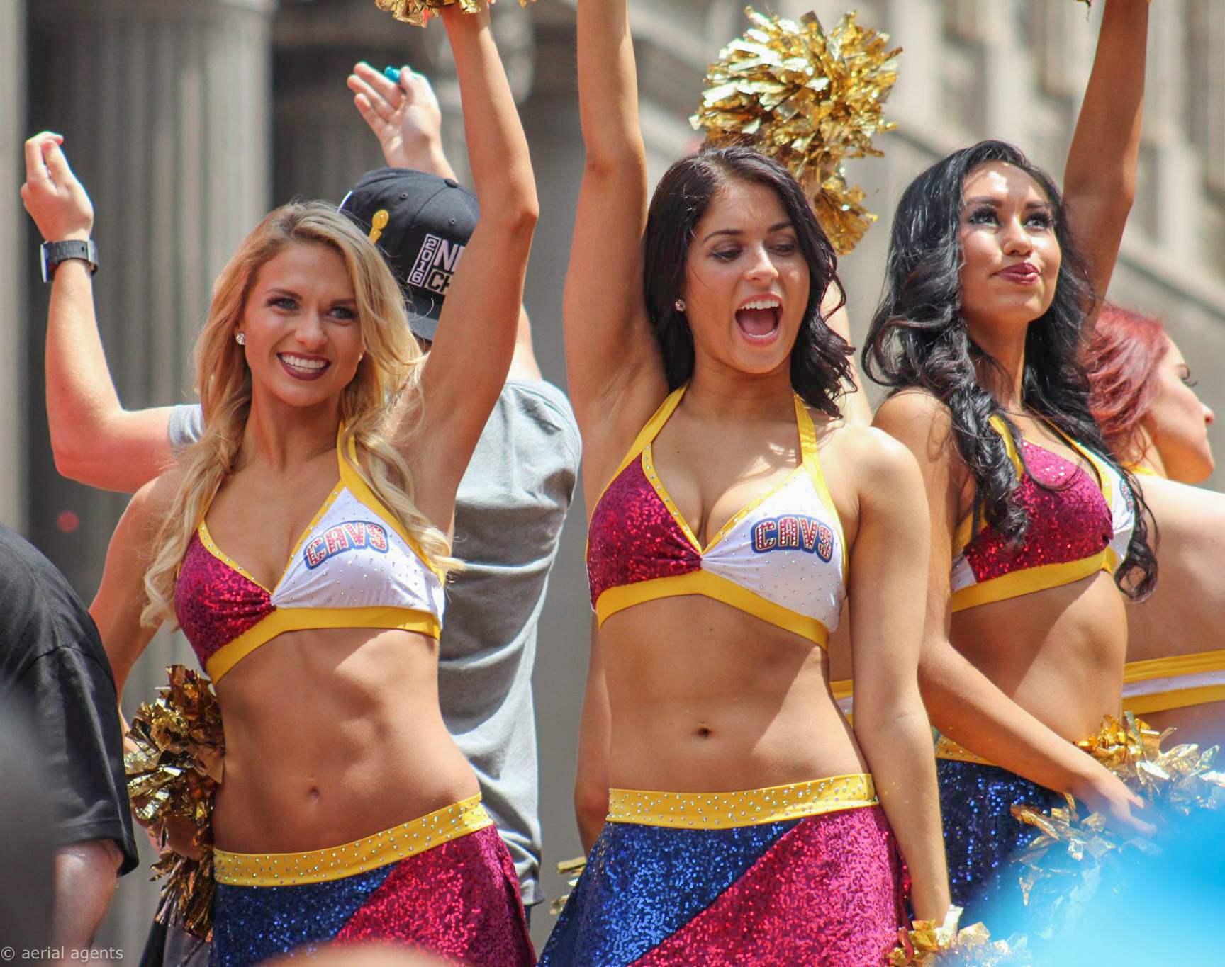 Cavs Cheerleaders representing