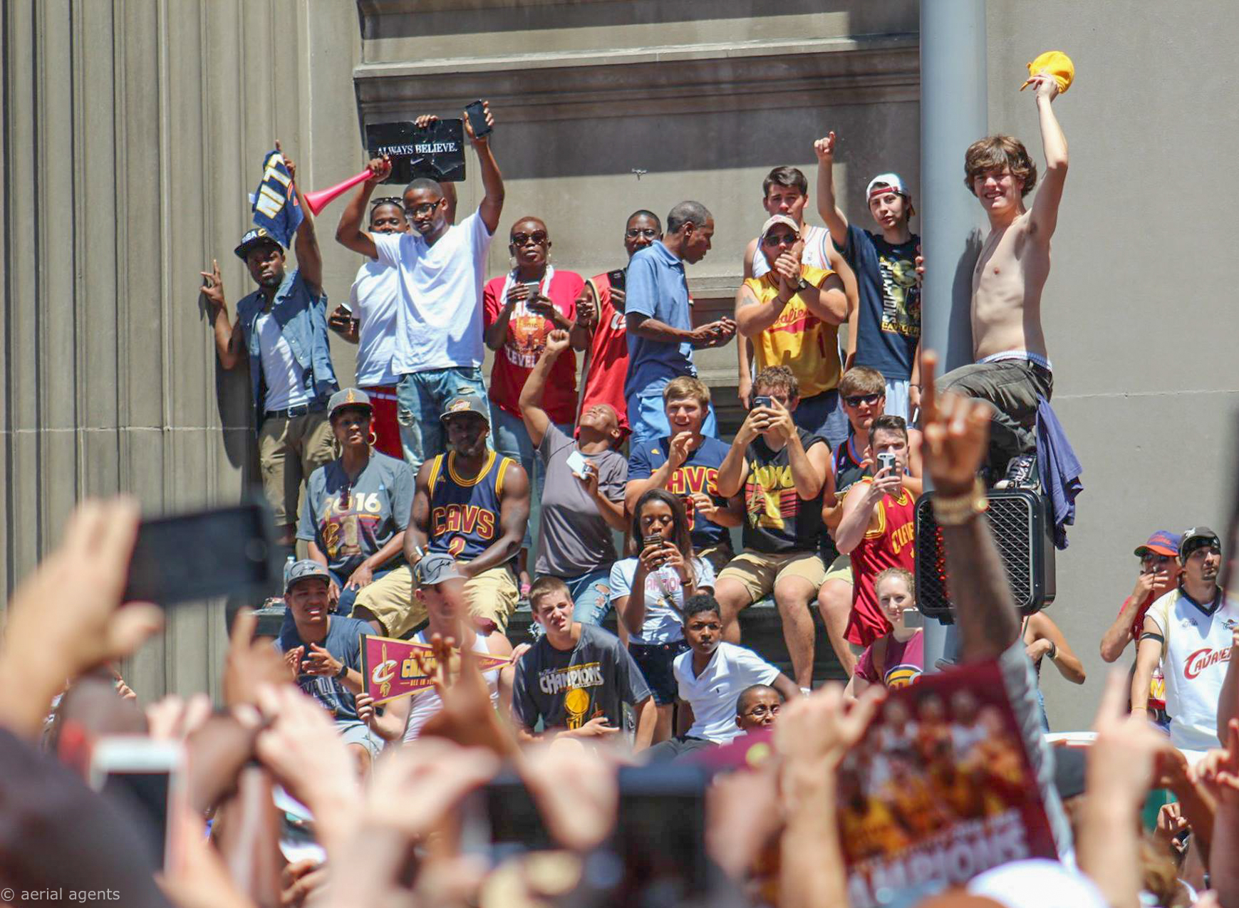 Epic celebration for Cavs fans. The Parade brought everyone together