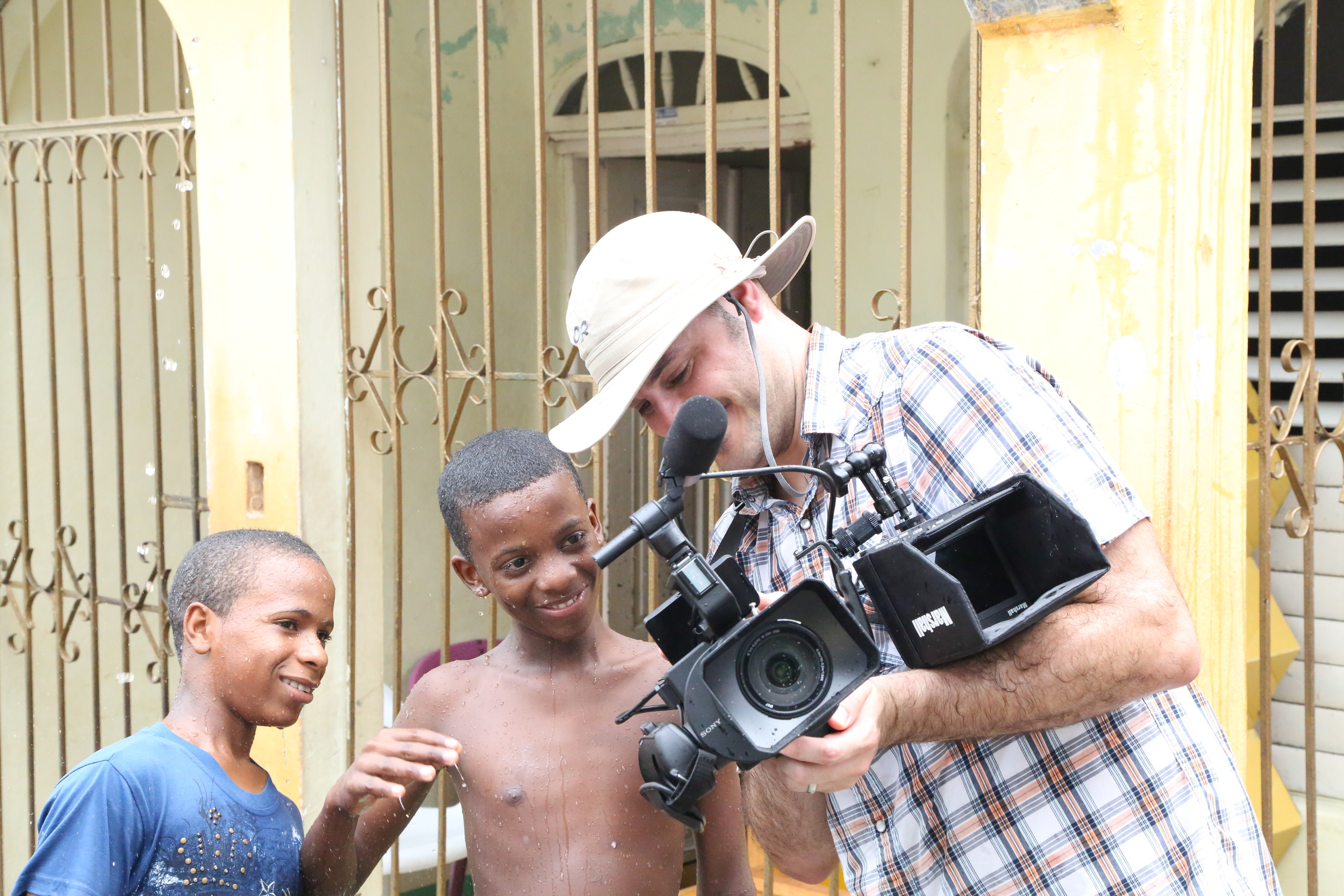 Showing some kids footage in Santo Domingo, Dominican Republic.