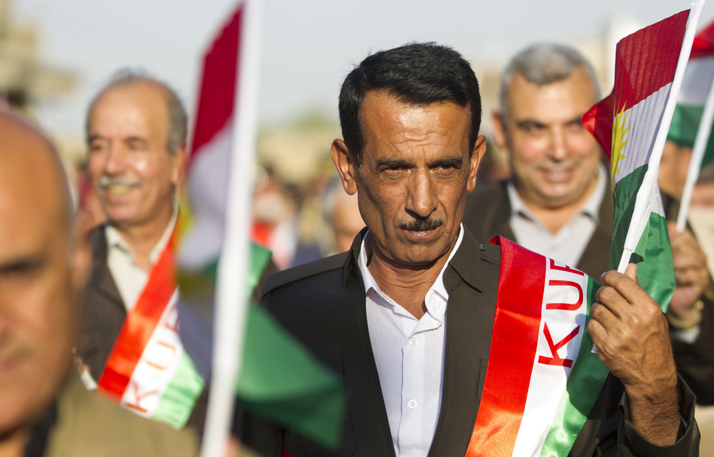 A parade through Erbil, Iraq ahead of the Kurdish independence referendum.