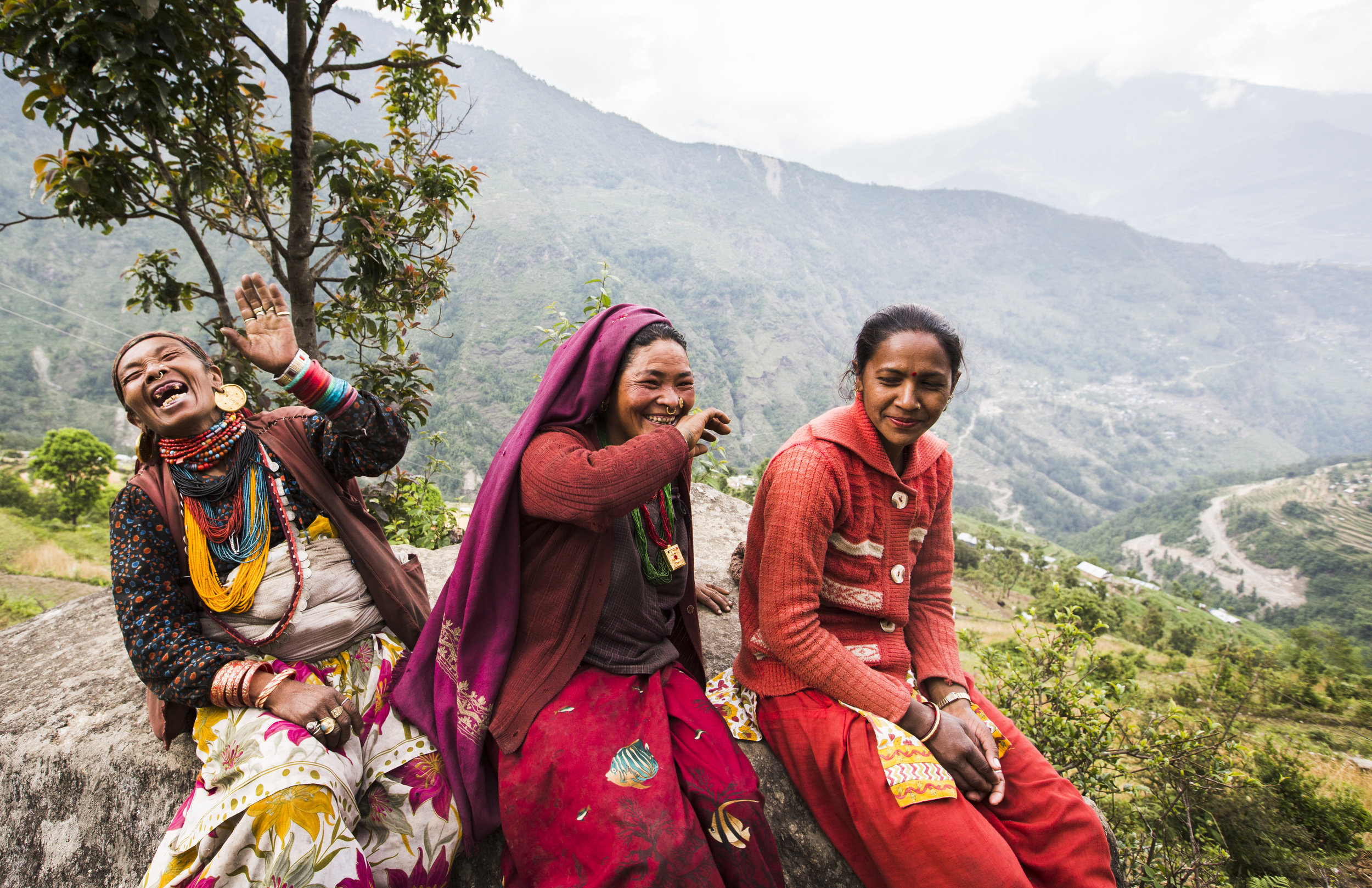 Villagers in the Dolakha district at a gathering to decide who will serve on a drinking water project they are about to begin building.