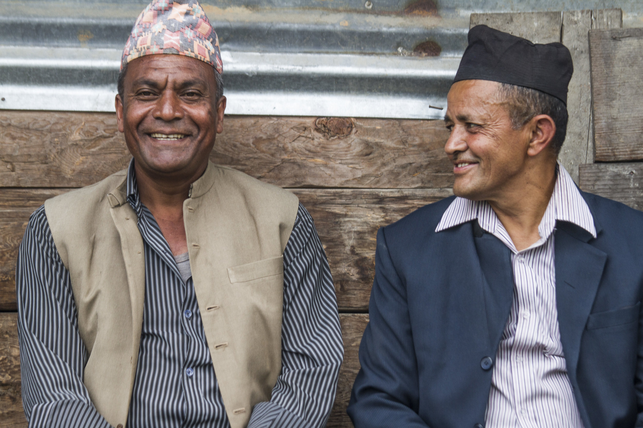 Community leaders in the Dolakha district in Nepal.