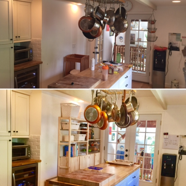 Before and after wide view - They actually make the kitchen feel bigger!