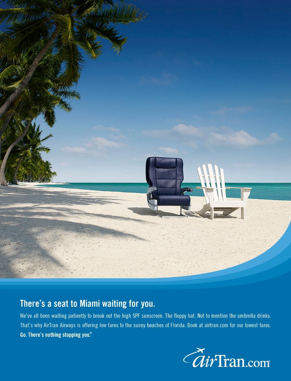 seat to miami print ad