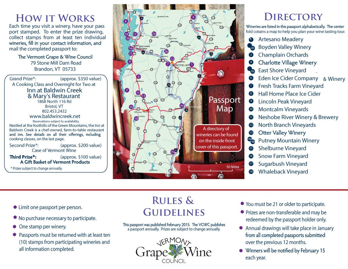 The Vermont Winery Passport