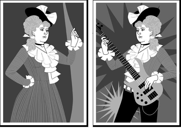 Madame de Jos Bleau & Sammi Spangles. For  The Lifted Brow , 2009