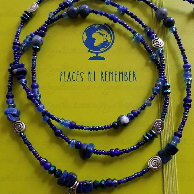 Know yourself and be empowered! Accept yourself and be undefeated!  These beautiful Lapis lazuli waistbeads help us go deep within our spirits to awaken our true destiny and divine purpose. Lapis Lazuli is also good for the memory!