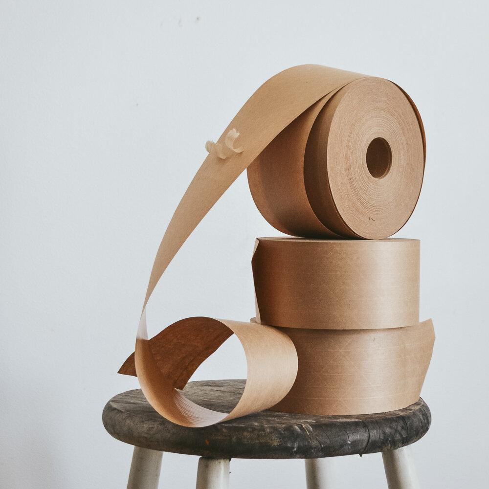 Stacks of paper tape