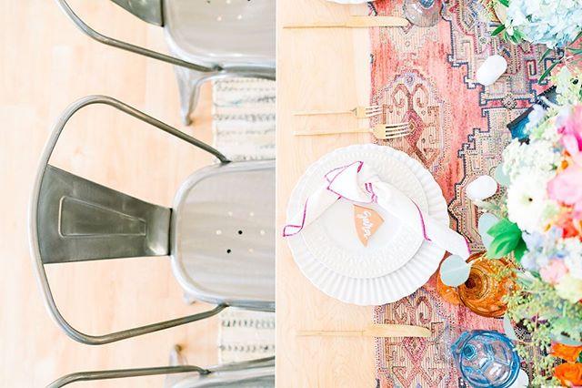 These details are 🔥  The team:  Rentals: @stecklaireventco Coordination, Style and Design: @prettylittledetails.co Venue: @bldg177 Floral: @geneseeflorist Table Decor: @hostesshaven Photography: @kileyshaiphotography