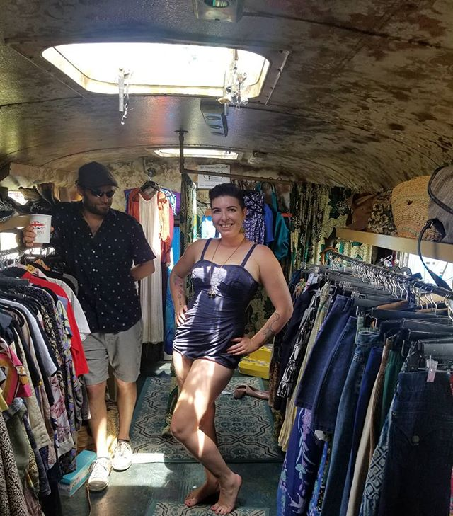 I have soooo many drool worthy vintage swimsuits.  At the market with some amazing vendors til 12:30!