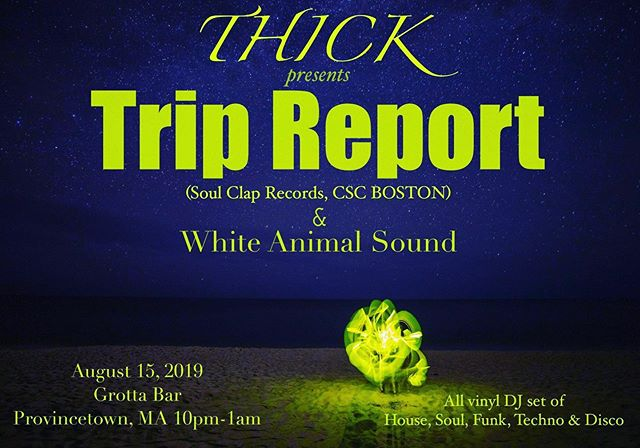 Next Thursday the 15 at THICK at the Grotta Bar we're excited to welcome Soul Clap records artist TRIP REPORT for an all vinyl excursion. @jedarmour.tripreport will be building a vibe with slabs of house, disco and techno until 1 AM after an introductory salvo by myself. Don't miss this special presentation with NO COVER!