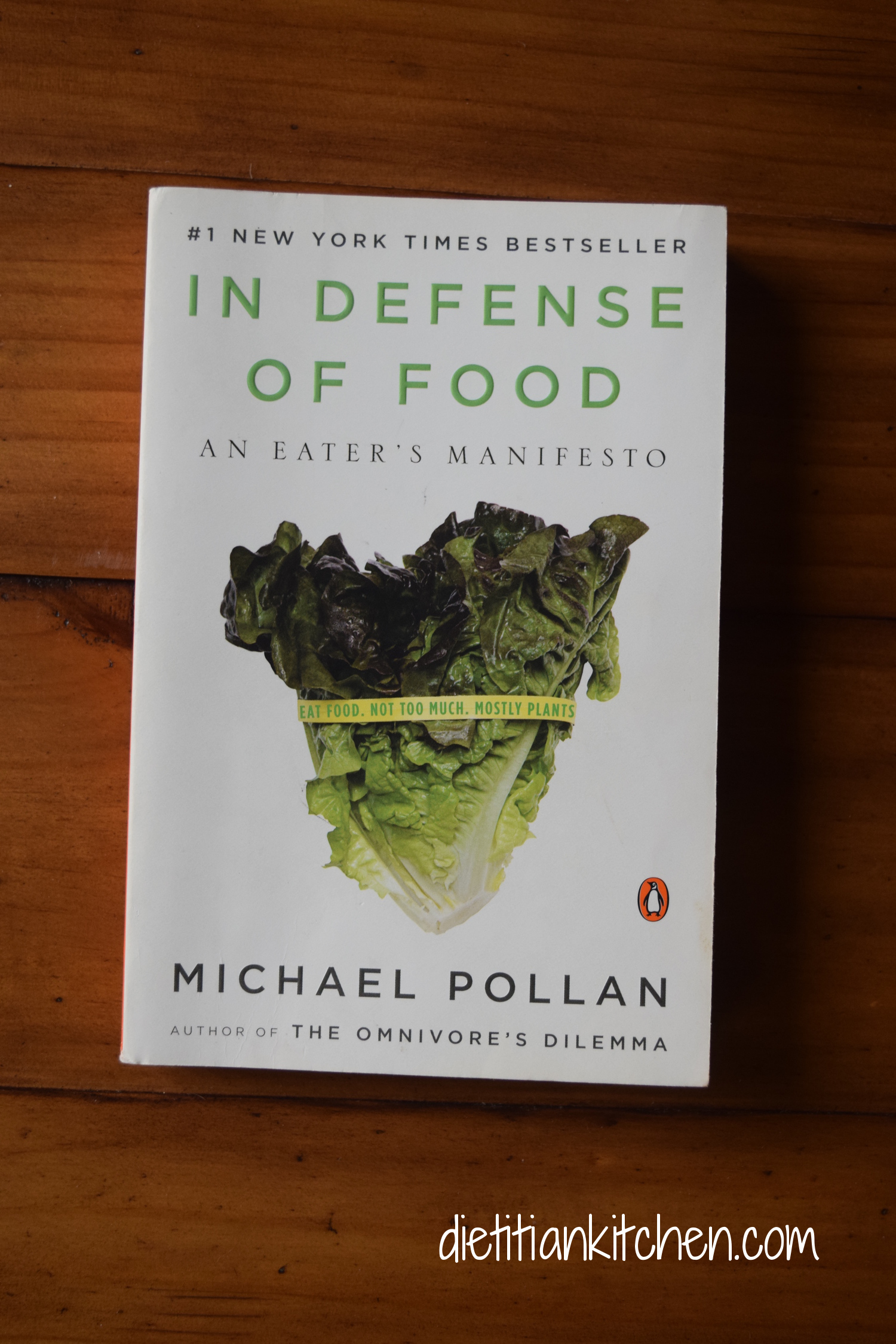 Eat food. Not too much. Mostly plants.  Period. A great read for anyone needing an extra push to avoid eating packaged processed foods--for good!