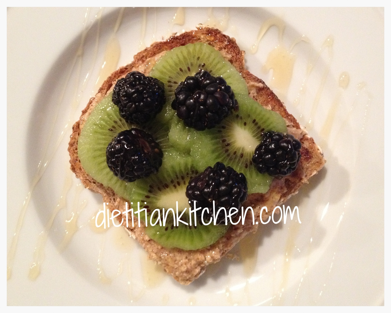 Almond Butter Fruit Toast