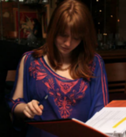 Director Tracey Erbacher at work.