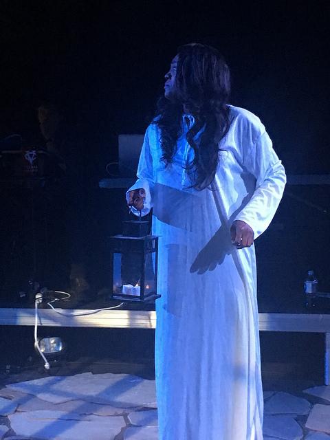 Renea Brown (Lady Macbeth) in rehearsal.