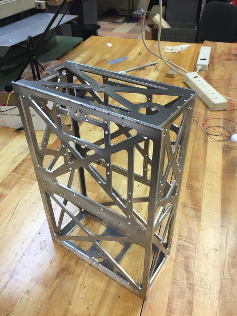 Measuring 10x20x30cm, Triteia is a 6 unit Cubesat.