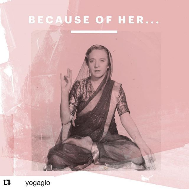 🙏🏽Respect and Gratitude for the women in our yogini lineage and also for our present day yoginis- Thank you for sharing this healing practice! Om Shanti📿 . .  #Repost @yogaglo with @get_repost ・・・ As celebrated as yoga is and as accessible as it has become, this hasn't always been the case. For thousands of years, yoga thrived within a very exclusive group.  In celebration of International Women's Day, we're supporting #BalanceForBetter by sharing the stories of six women who, through their passion for movement and equality, refused to back down in the face of adversity.  Each of their stories have and continue to move us towards a balanced future, starting with a groundbreaking, yet largely hidden figure in yoga. - In the 1930's, a young Latvian woman named Indra Devi challenged the status quo. Initially rejected by the great yoga master Krishnamacharya, because she was a foreigner and a woman, she refused to give up and was ultimately granted permission to become his student.  She met every challenge set out for her and was asked to become a teacher. Eventually, she opened a studio in Hollywood, helping to popularize yoga as a practice for inner and outer well-being.  Because of Indra Devi, we are inspired to listen to our inner calling against all odds, and strengthened by the knowing that our courage can change the world. 🙏✨ . . . . Photo Source: WildYogi  #InternationalWomensDay #iwd2019 #GenderEquality #WomenSupportingWomen #WhoRunTheWorld #YesWomenCan #WomensHistoryMonth #March8 #yogalife #yogainspiration #yogacommunity #Glo #BecauseOfHer #IndraDevi