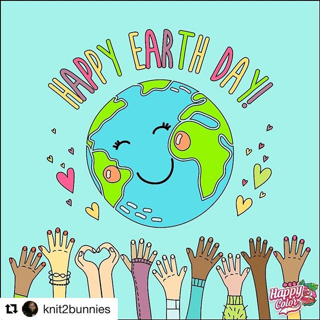 🌍 Happy Earth Day! 🌎 . 💚 Love this sweet colorful reminder from an old friend! 🥰 . 🌈 Let us count our many blessings from Mother Earth who provides all we need for Life, Joy, Abundance, and Health 🙏🏽🌏❤️ Thank you beautiful planet, our home! . #earthday #happyearthday #earthdayeveryday #gratitude #motherearth #planetearth #nature .  #Repost @knit2bunnies with @get_repost