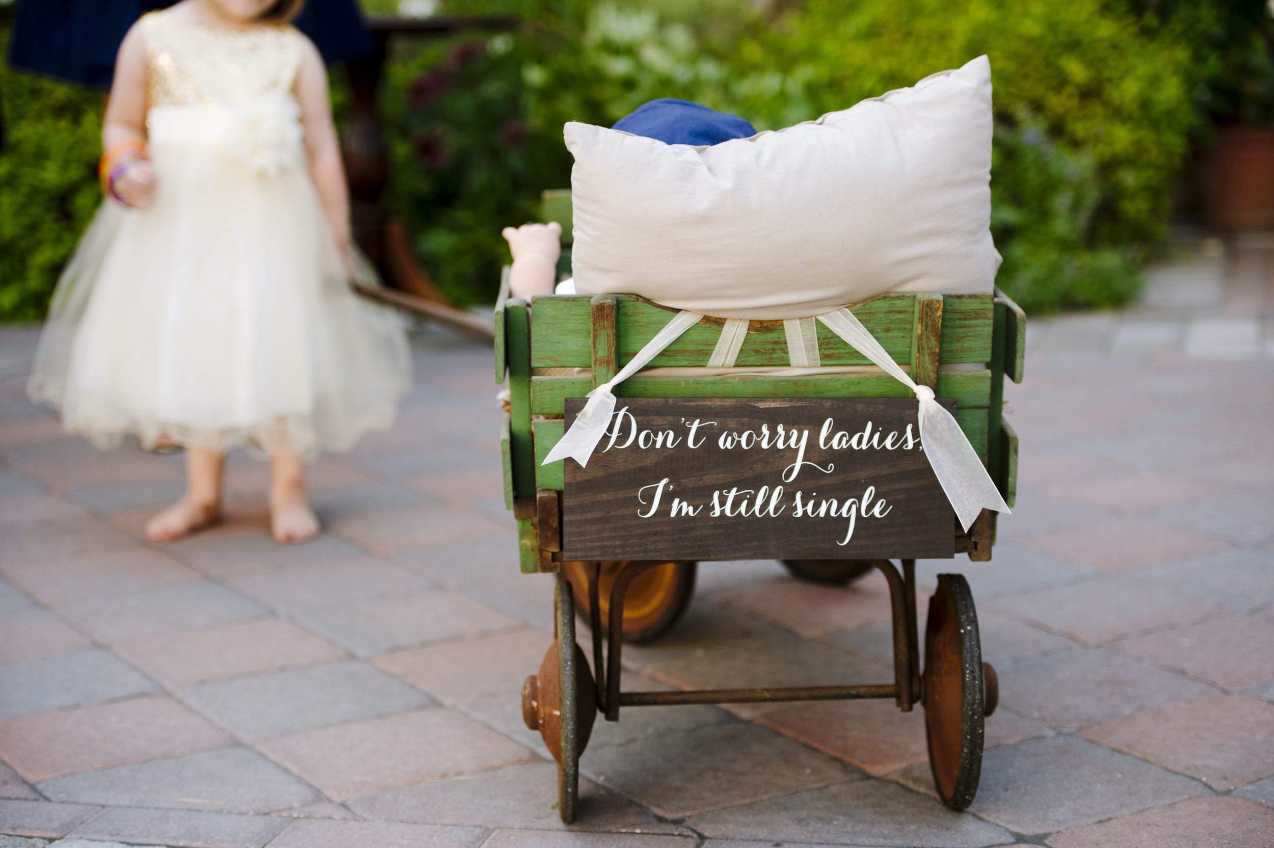 Flower girl with wagon