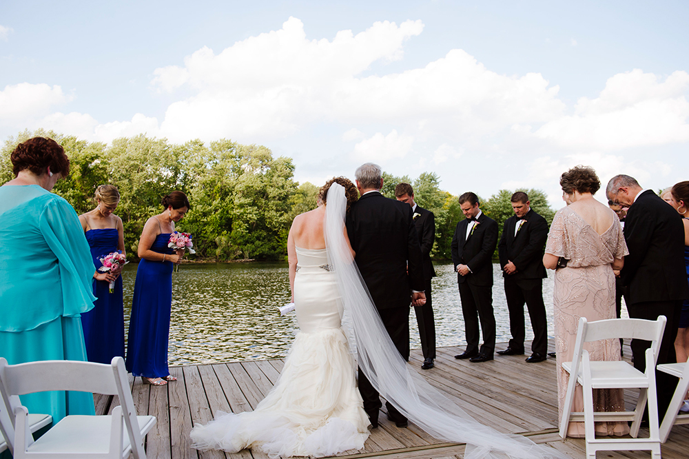 Wedding Ceremony at Harry Parker Boathouse