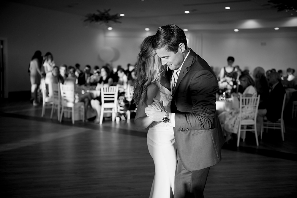 Bride and groom first dance at Newport Beach House
