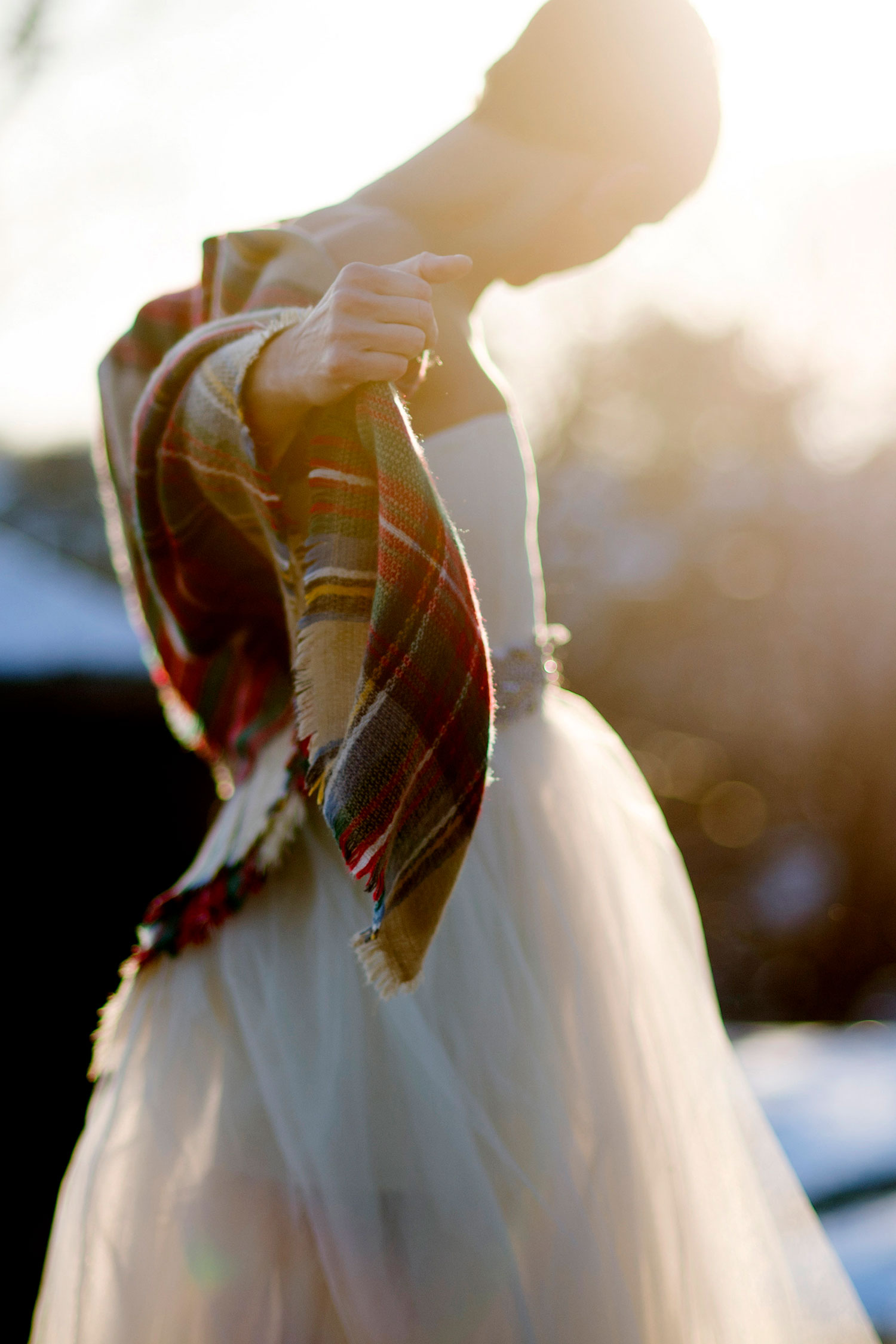 Beautiful fall New England wedding on a beach