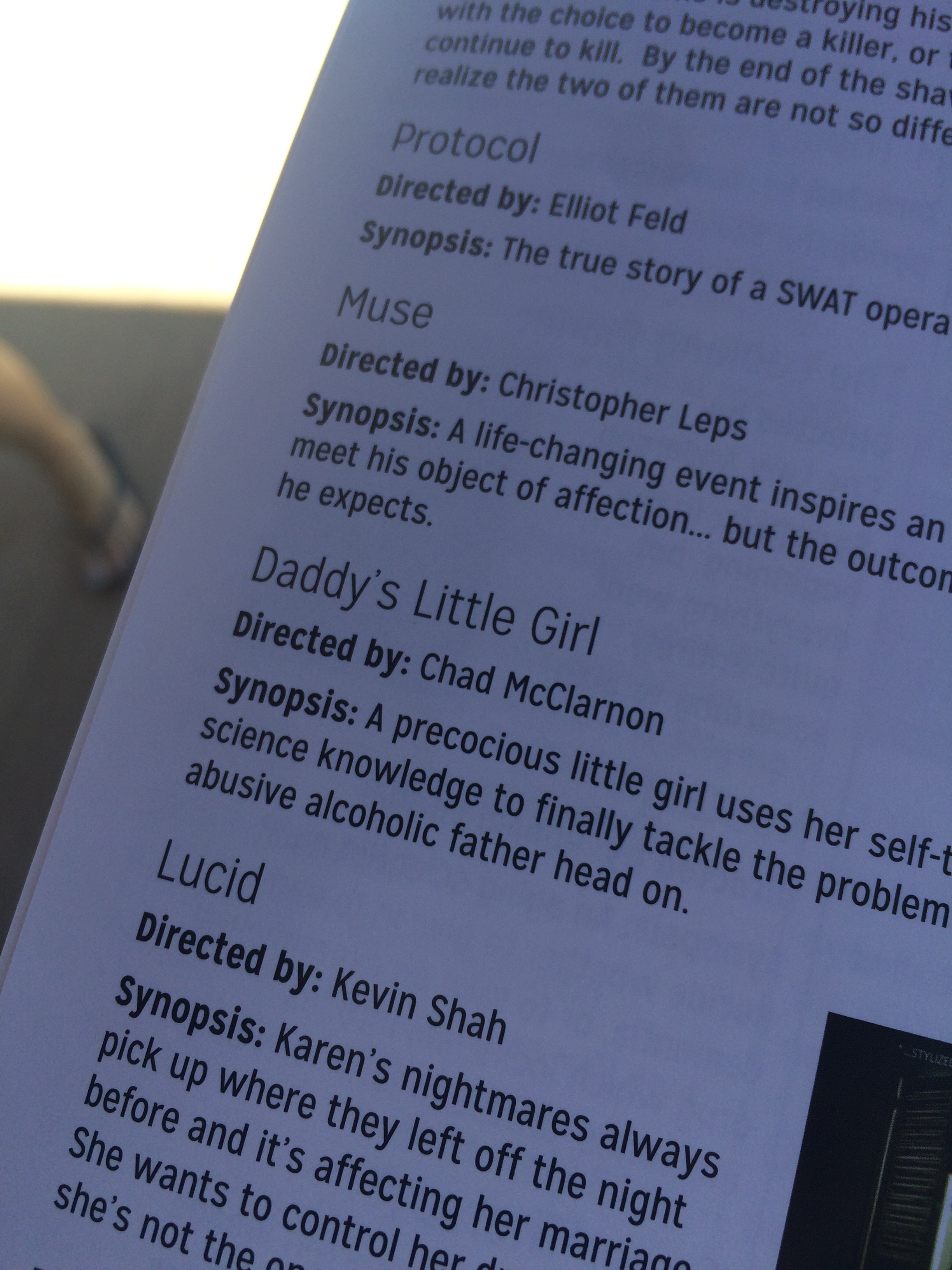 DLG's blurb in the festival program.
