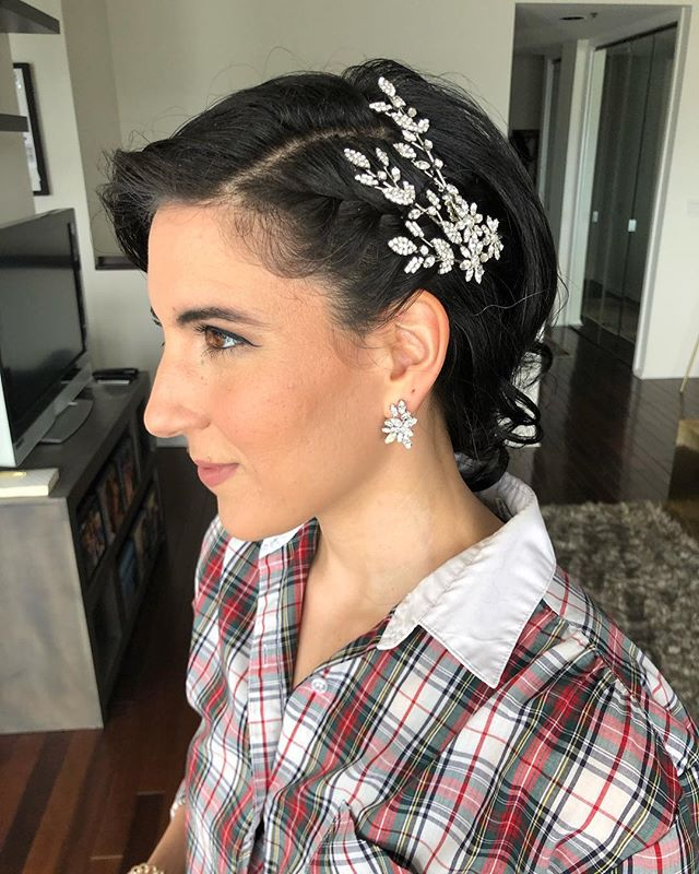 Honored to be styling my dear friend @juliamariepeterson for her #wedding soon! Here is a sneak peak from our trial yesterday. #Hair and makeup by #TheQueensTouch ⭐️ #nofilter