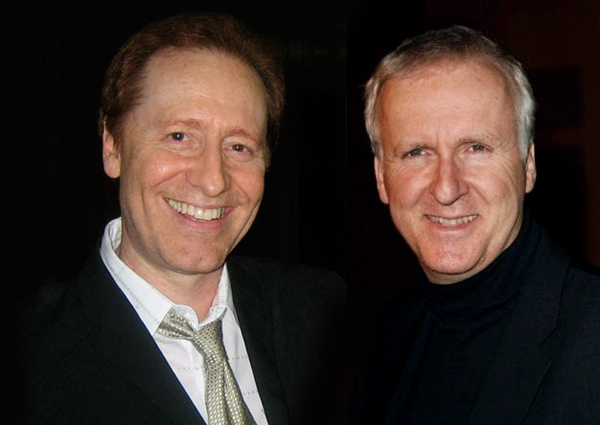 """Craig & James Cameron at the Shrine Auditorium debut of """"James Cameron Explorers: Titanic to the Moon"""" produced by Craig, on DVD & Blu-ray"""