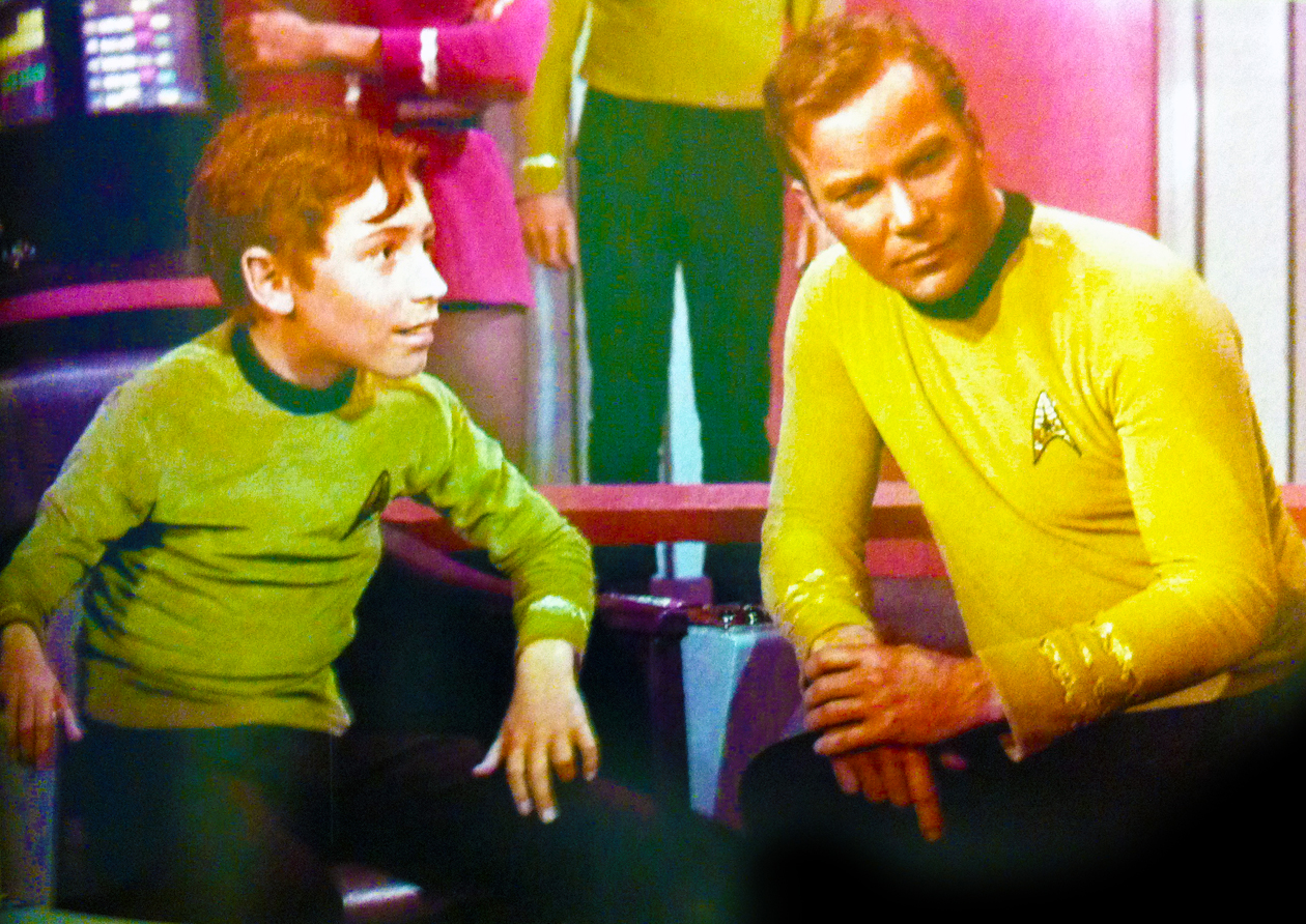 Captain Kirk and his nephew Peter James Kirk, played by Craig on the original series.