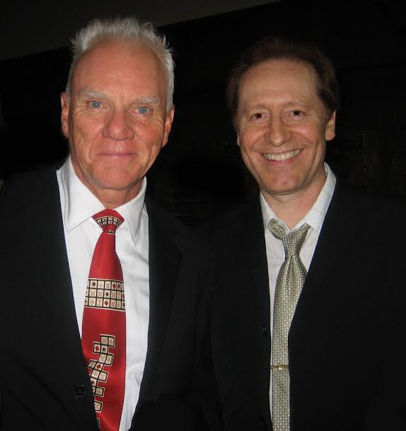 Craig with Malcolm McDowell at the Shrine Auditorium in LA