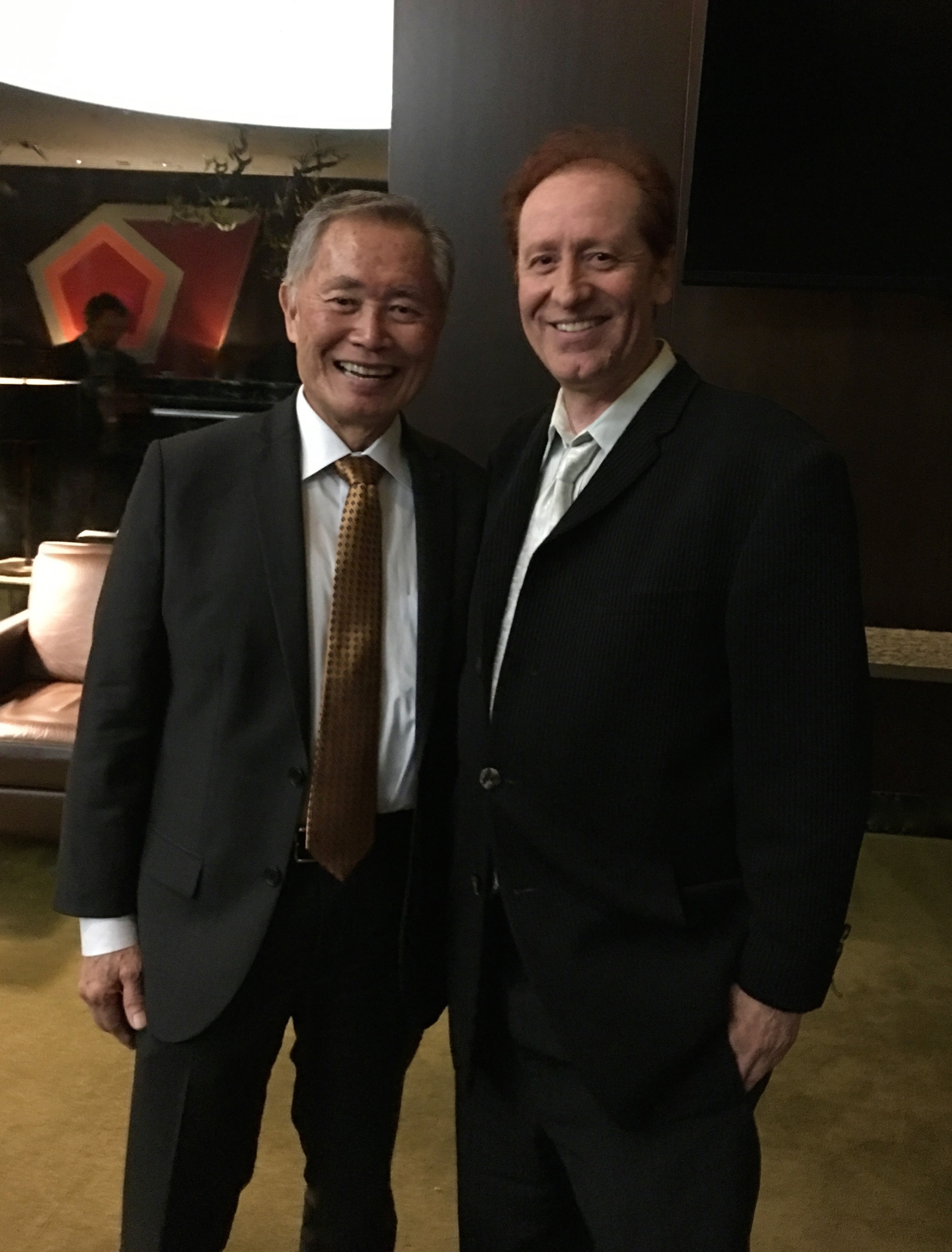 Craig, who played Captain Kirk's nephew, Peter James Kirk, catches up with his crew-mate, Sulu, played by George Takei.
