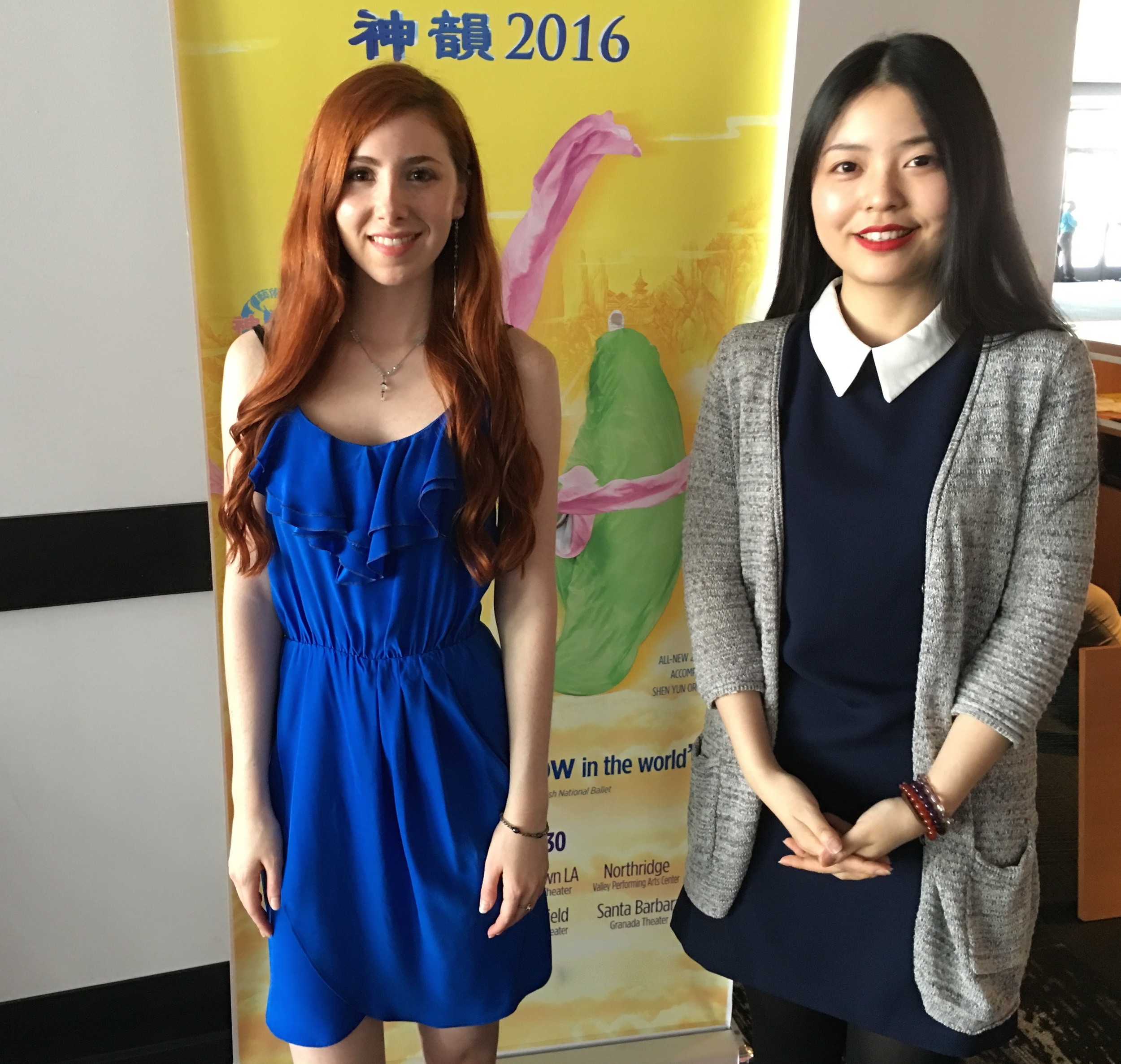 Fiona and Kejun at Chinese TV interview