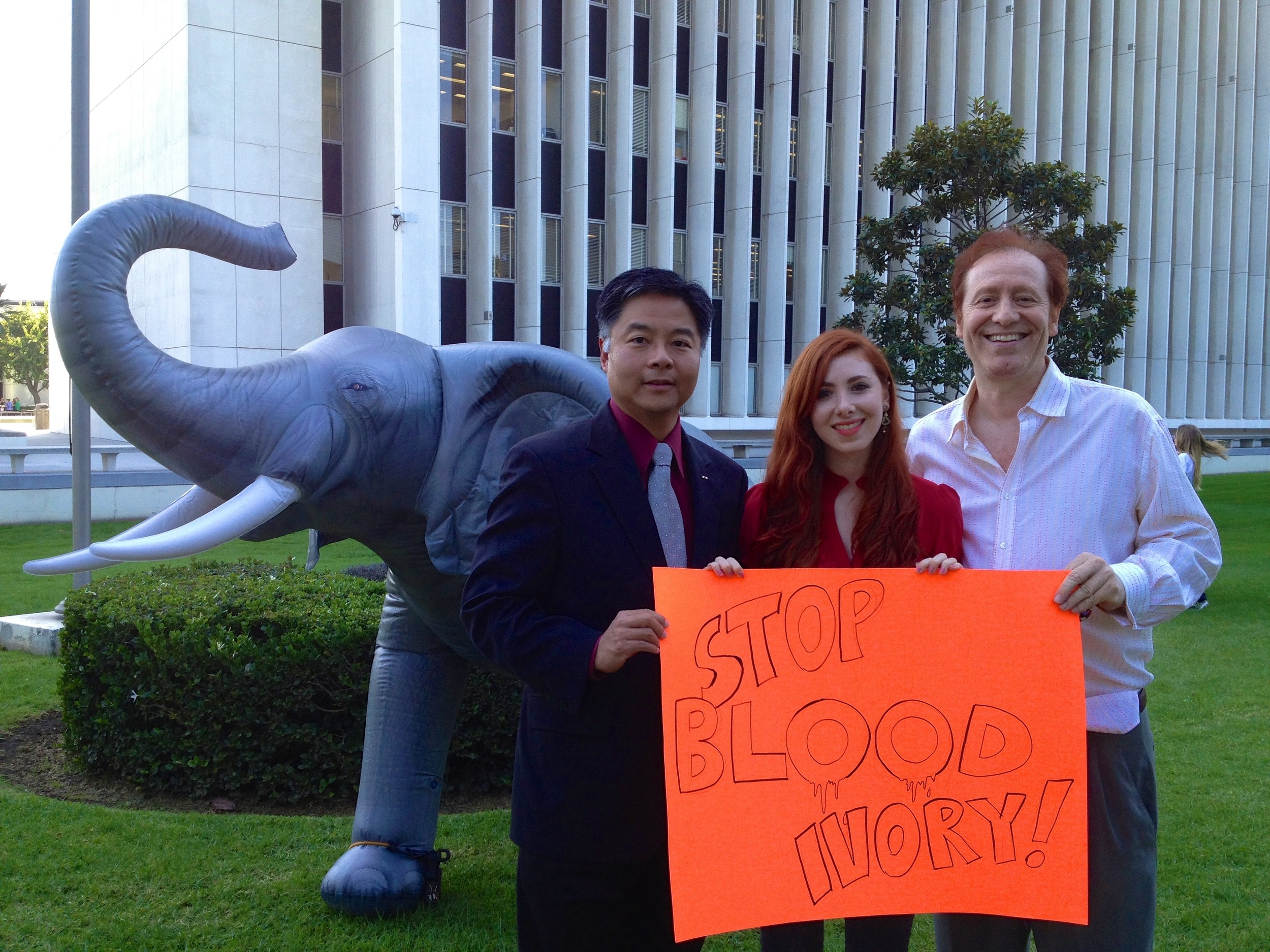 Congressman Ted Lieu supports curbing ivory demand in US & Asia