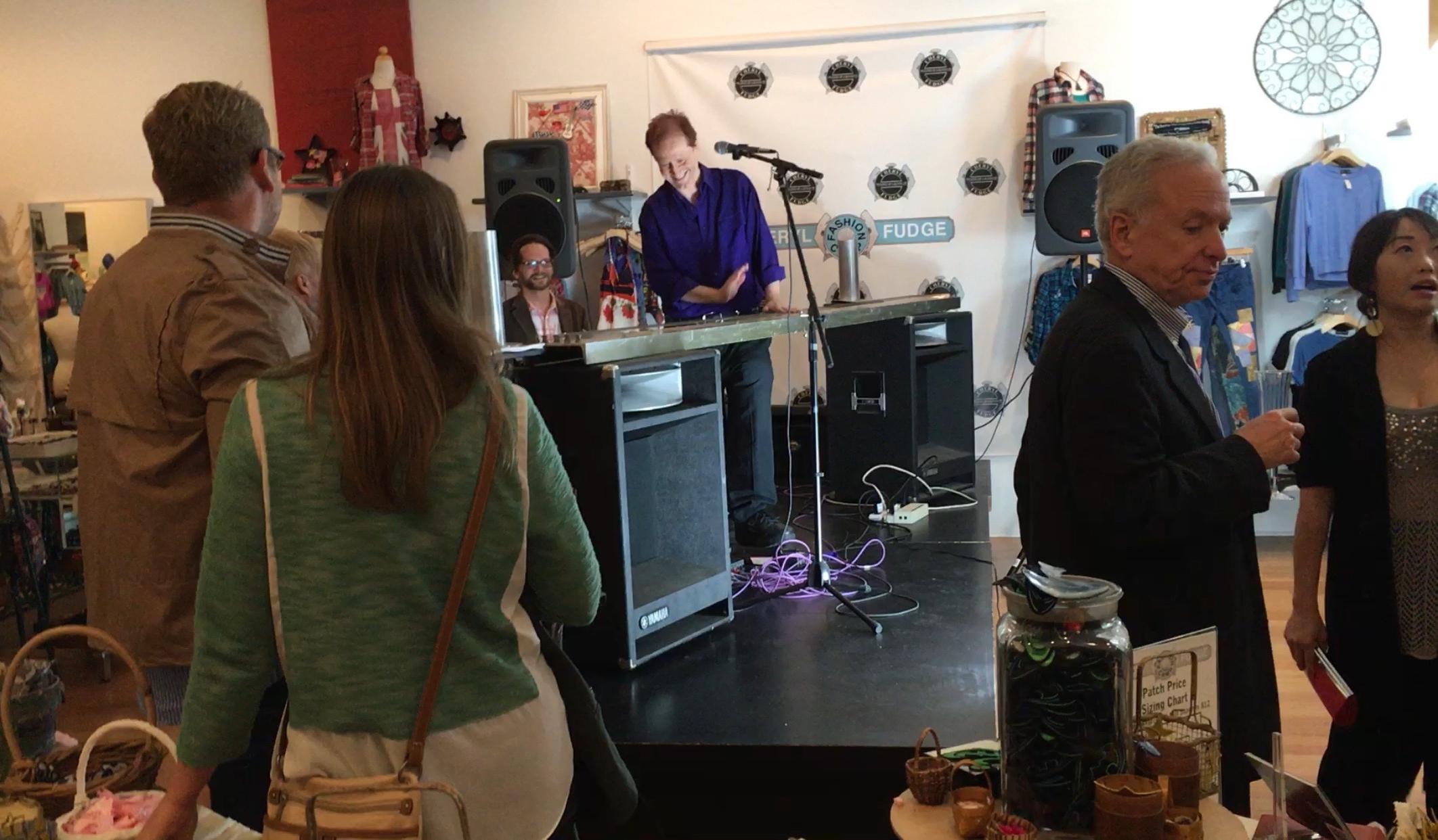 Craig playing his Blaster Beam at ELF event