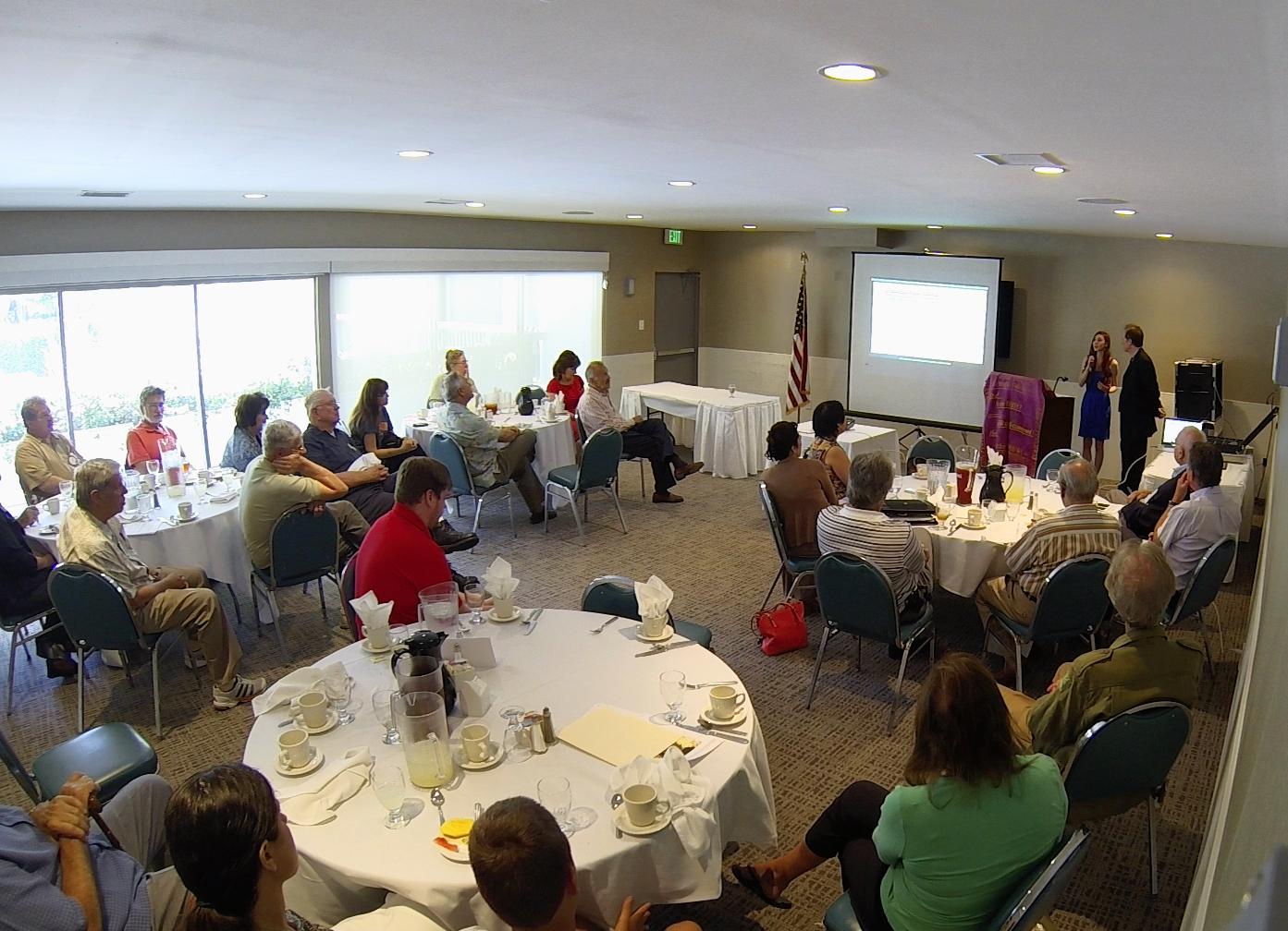 Team Huxley delivers speech & presentation at Studio City Rotary Club