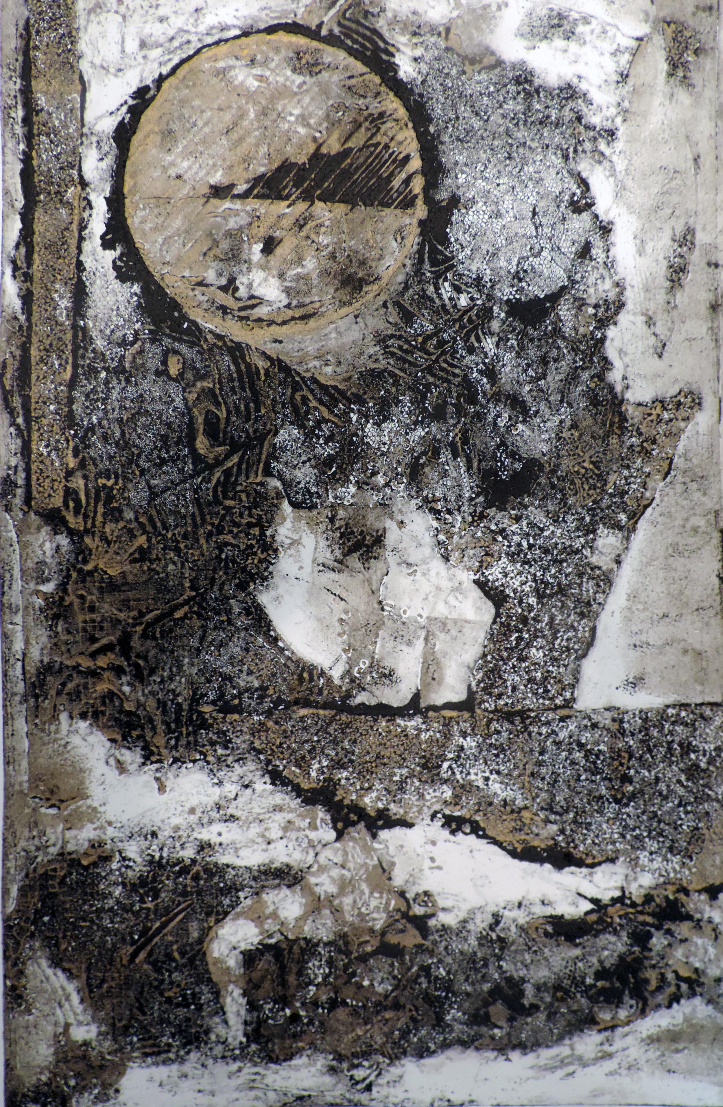 new work....11-6-14A Calliograph print, black/gold, 12x18