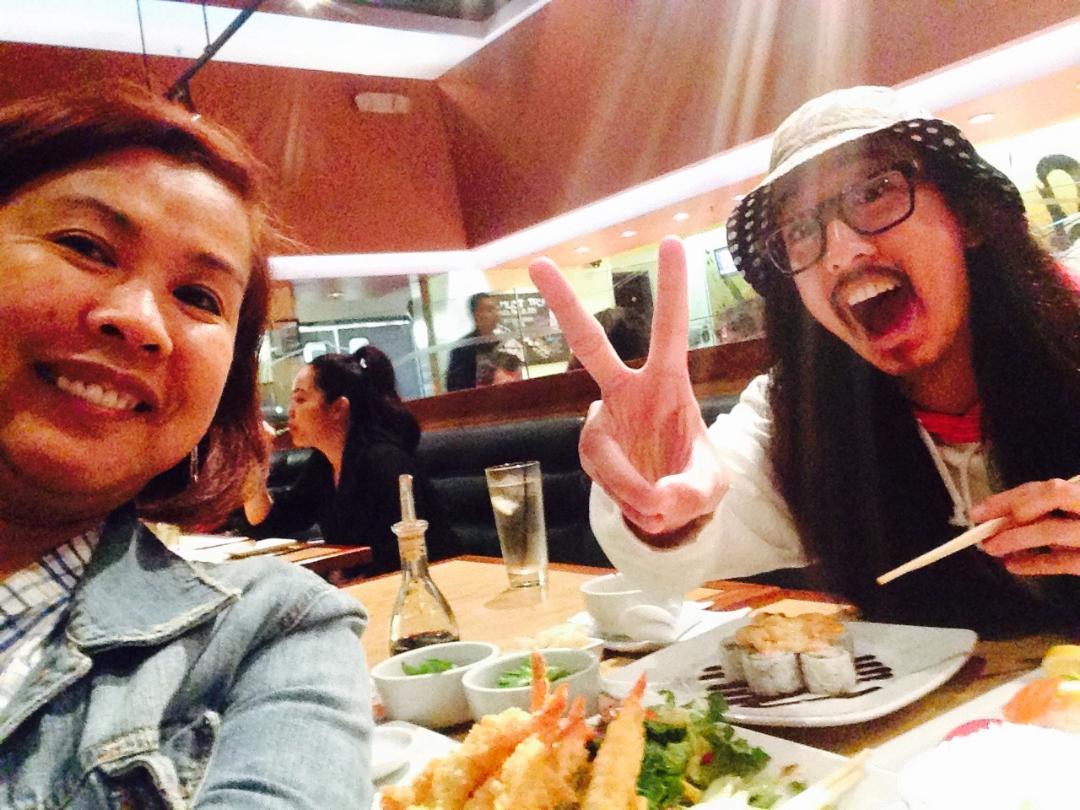 Mama and I! PEACE! #Selfie