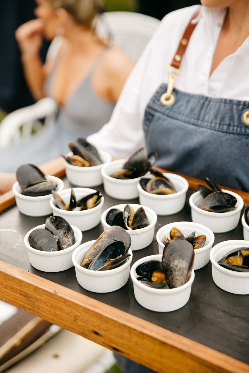 Mussels Pots at Amy & Donnys Wedding (Photo by Rachel Kara).jpg