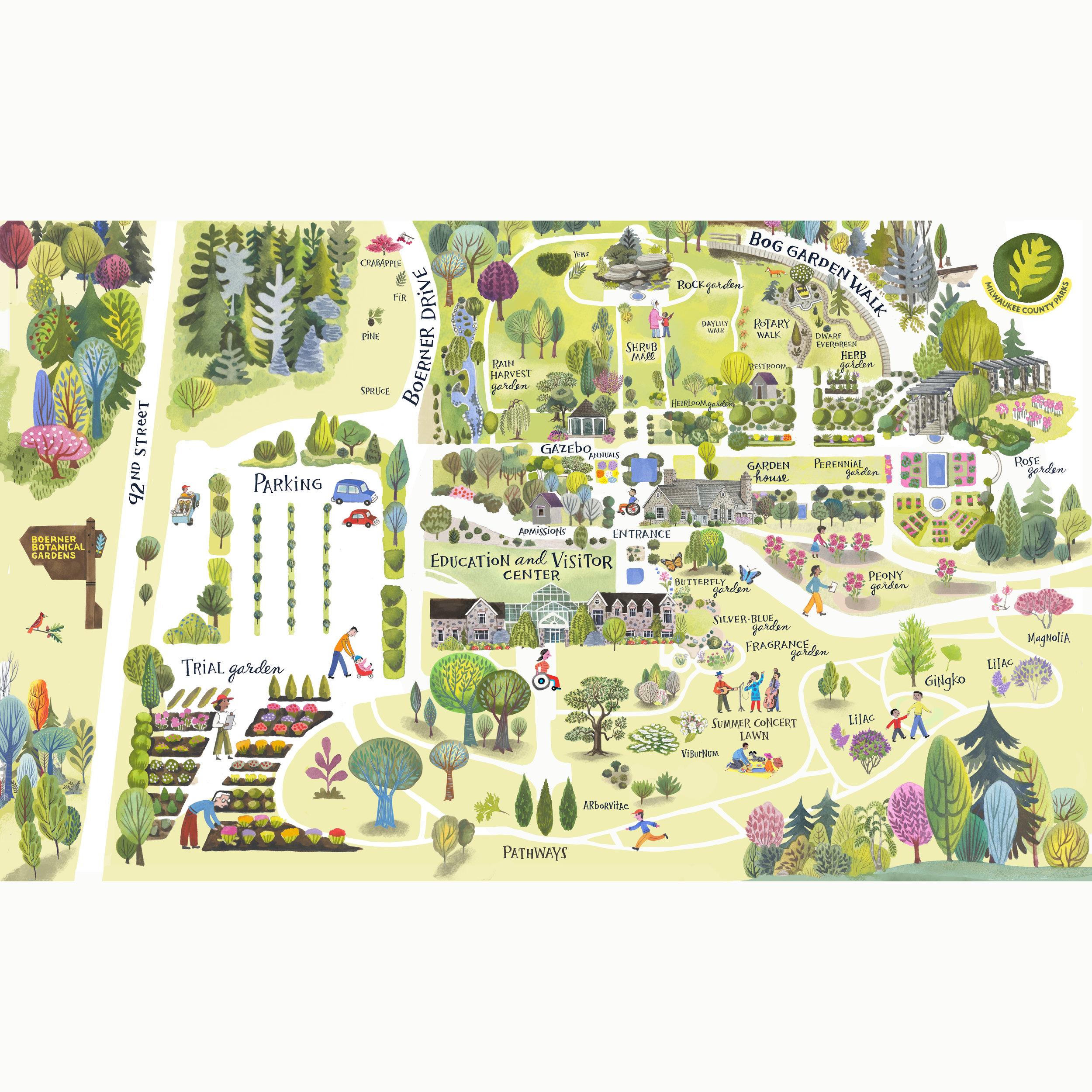 Boerner Botanical  Map